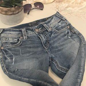 Silver Mid Skinny Joga Jeans